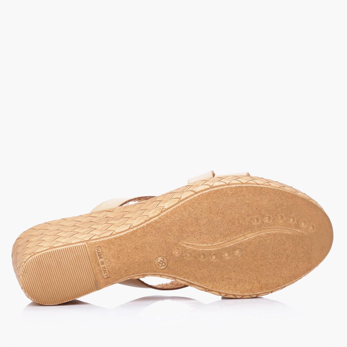 Textured Slip-On Wedges
