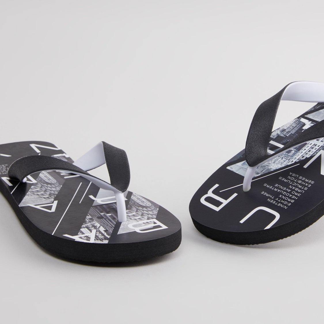 Graphic Printed Flip Flops