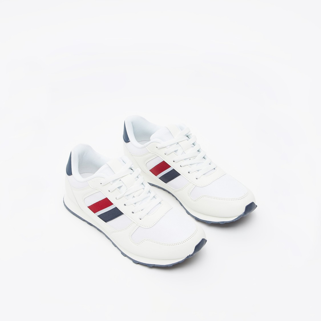 Stripe Detail Lace-Up Sneakers