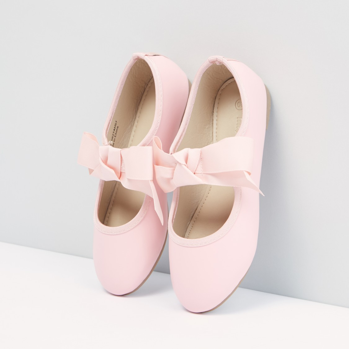 Bow Detail Shoes with Elasticised Band