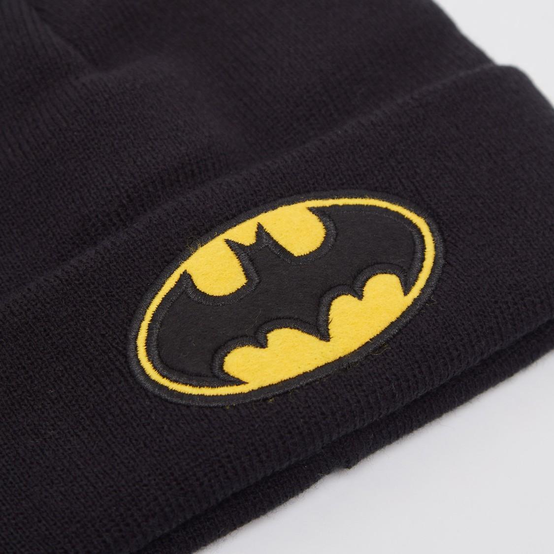 طقم قفّازات وقبّعة كاب بطبعات باتمان