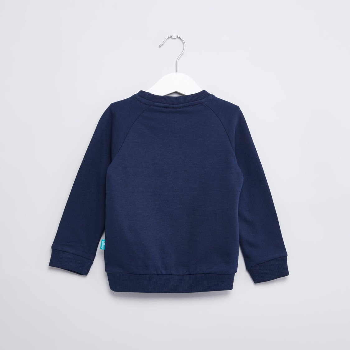 Donald Duck Printed Sweatshirt with Round Neck and Long Sleeves