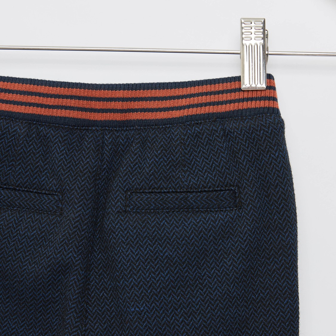 Textured Pants with Pockets and Elasticised Waistband
