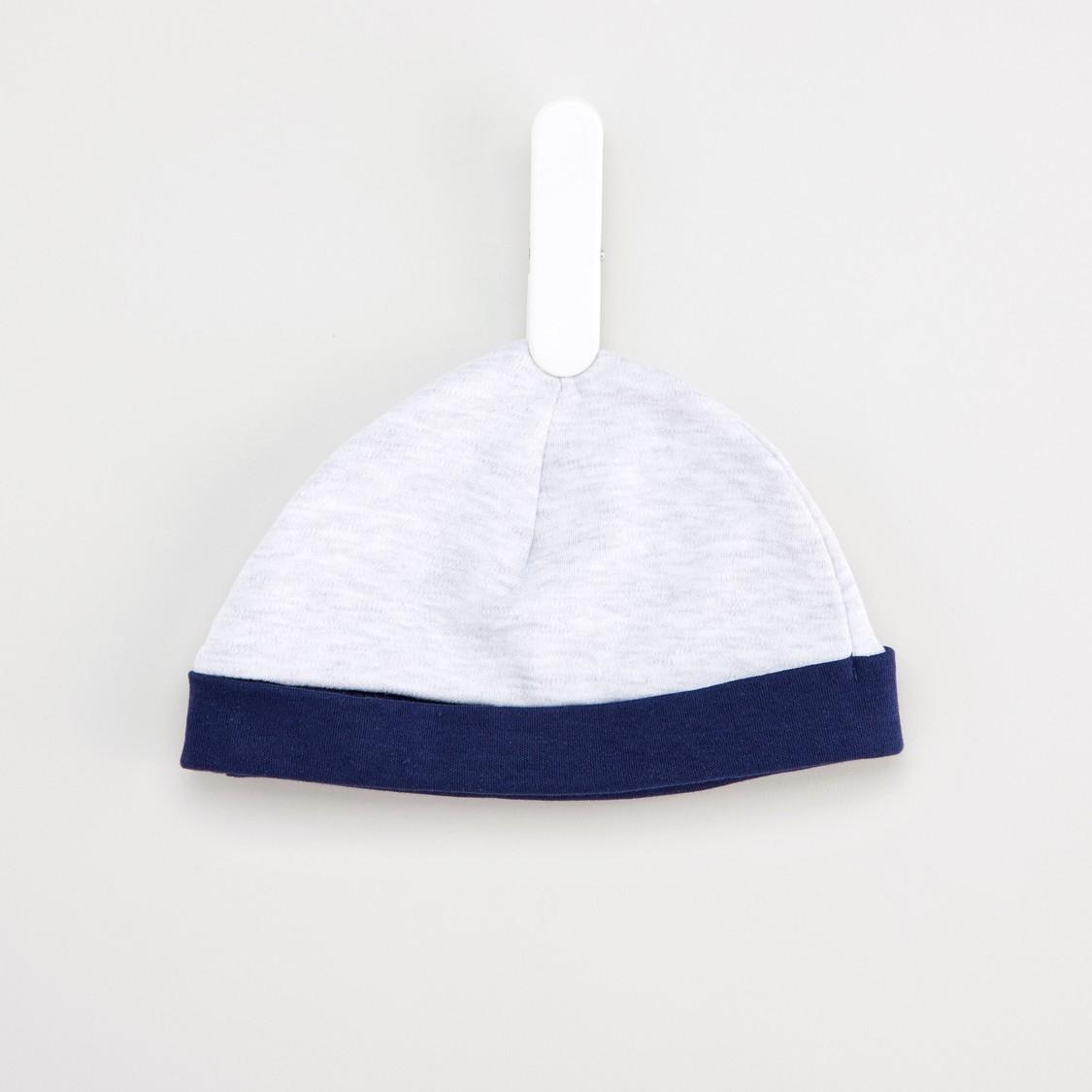 طقم نوم بأكمام طويلة وطبعات مع قبعة
