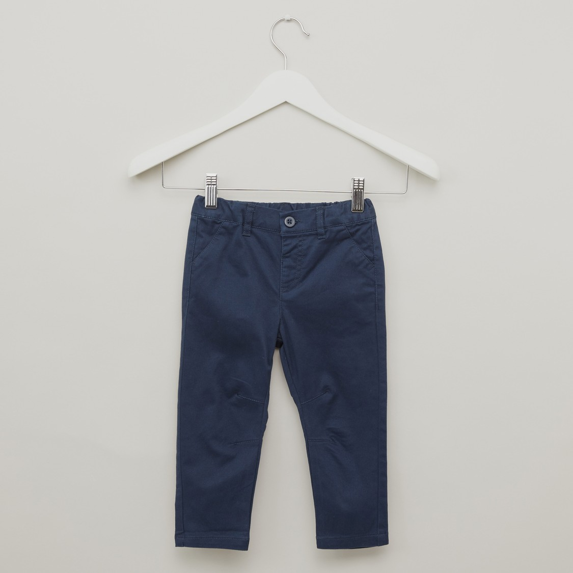 Pocket Detail Chinos with Button Closure