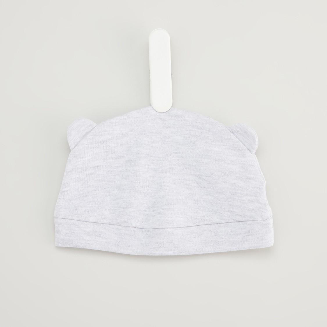 طقم نوم بأكمام طويلة وقبعة وطبعات