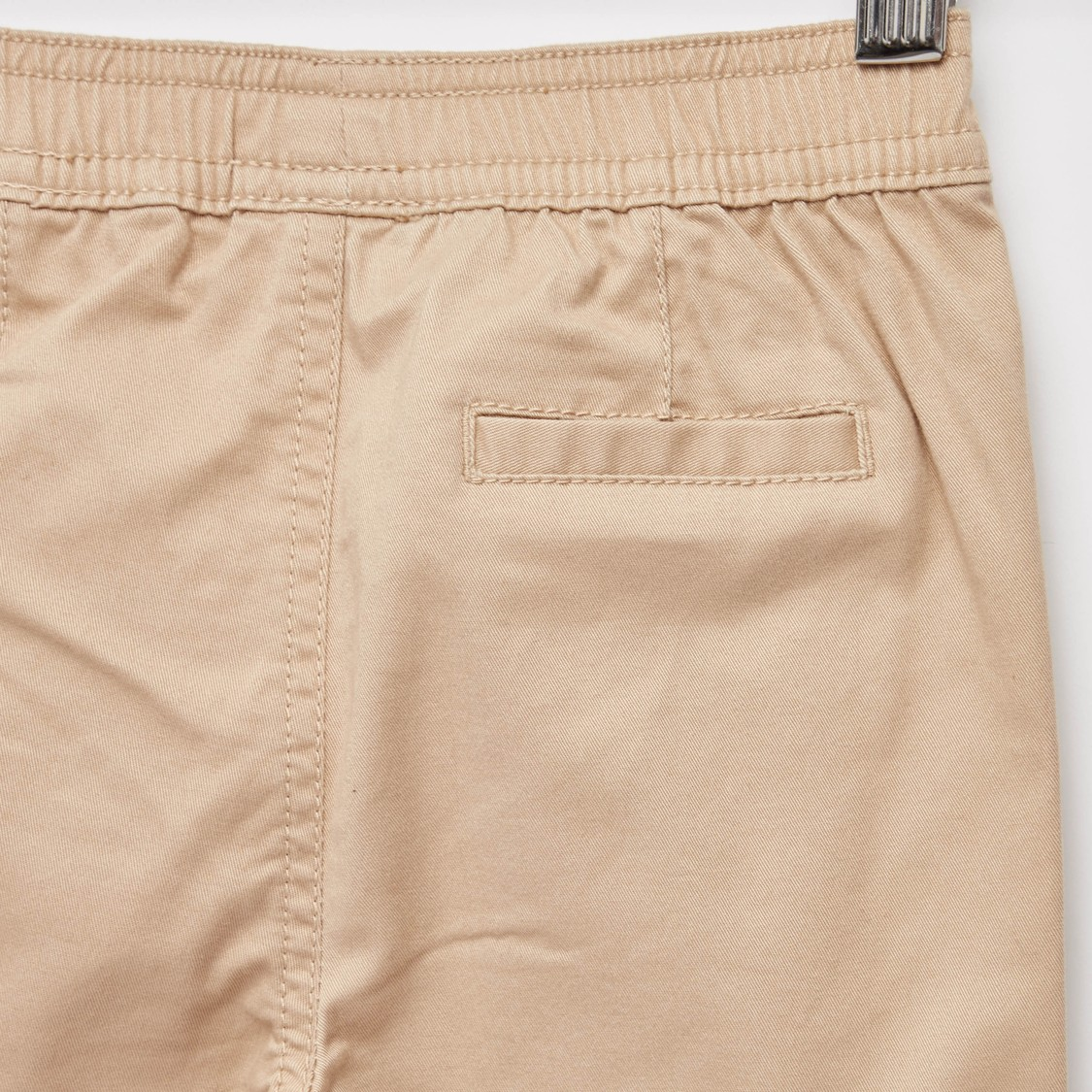 Full Length Solid Jog Pants with Pocket Detail and Elasticised Waistband