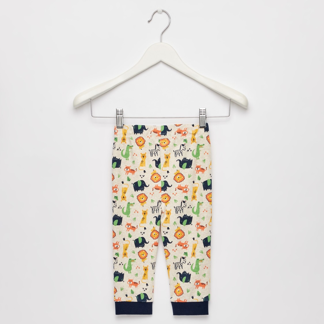 Animal Print GOTS Organic Cotton T-shirt and Full Length Pyjama Set