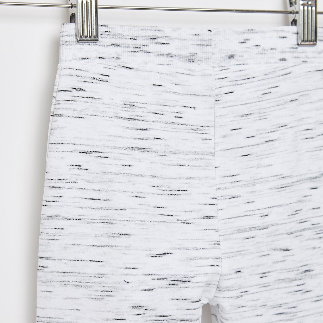 Full Length Textured Jog Pants with Pockets and Drawstring Closure