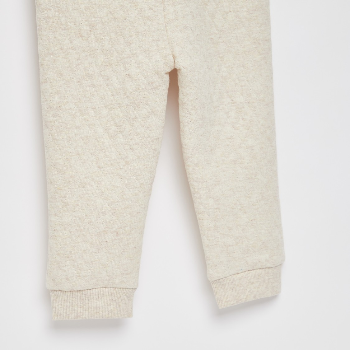 Full Length Quilted Joggers with Drawstring Closure