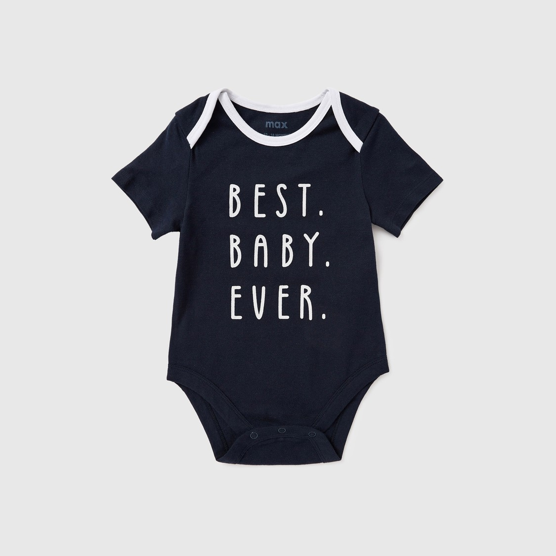 Set of 3 - Assorted Round Neck Bodysuits with Short Sleeves