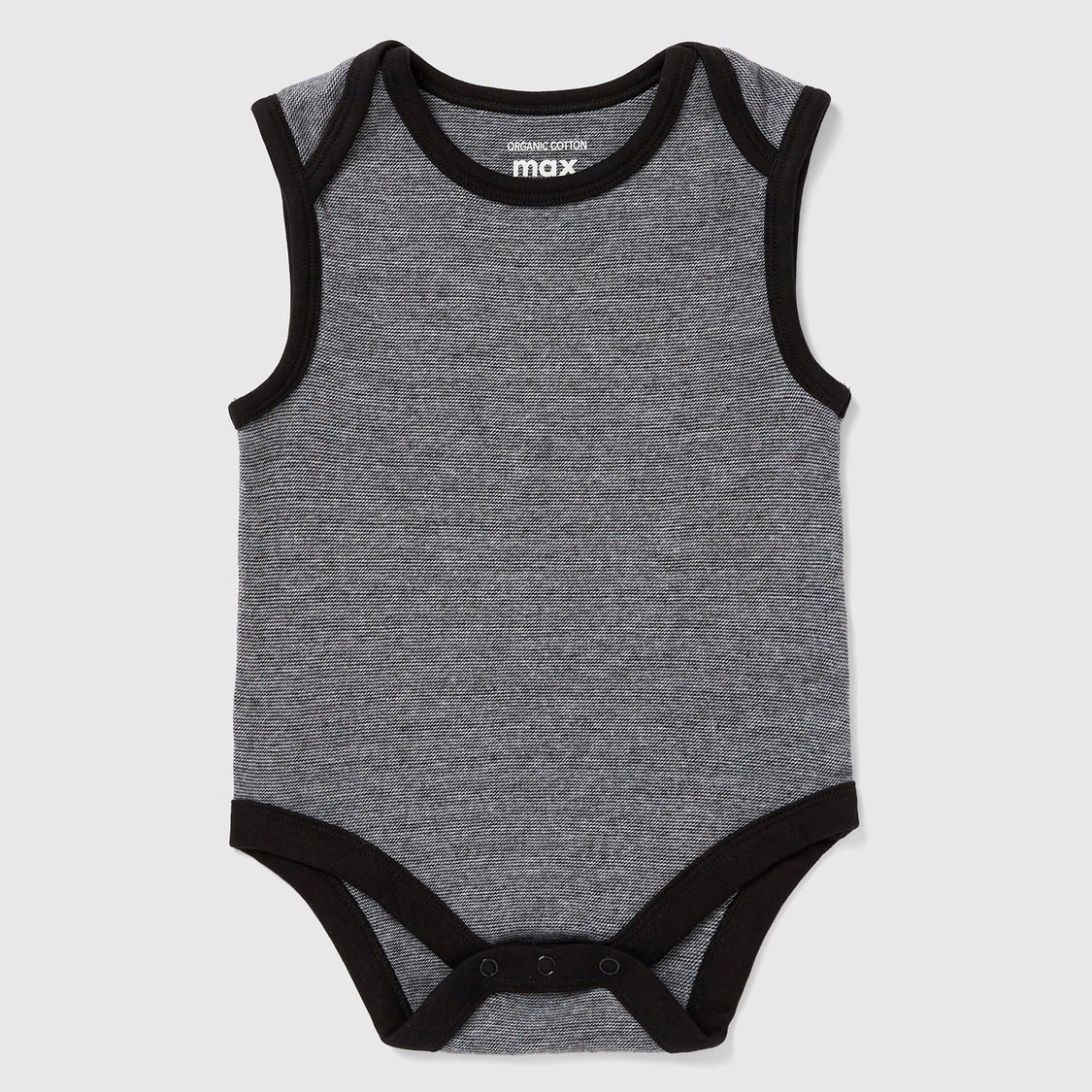 Set of 7 - Solid Sleeveless Bodysuit with Round Neck
