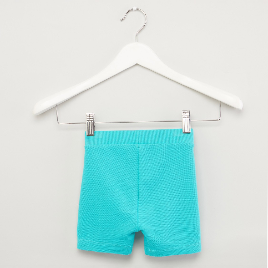 Textured Shorts with Pocket Detail and Drawstring