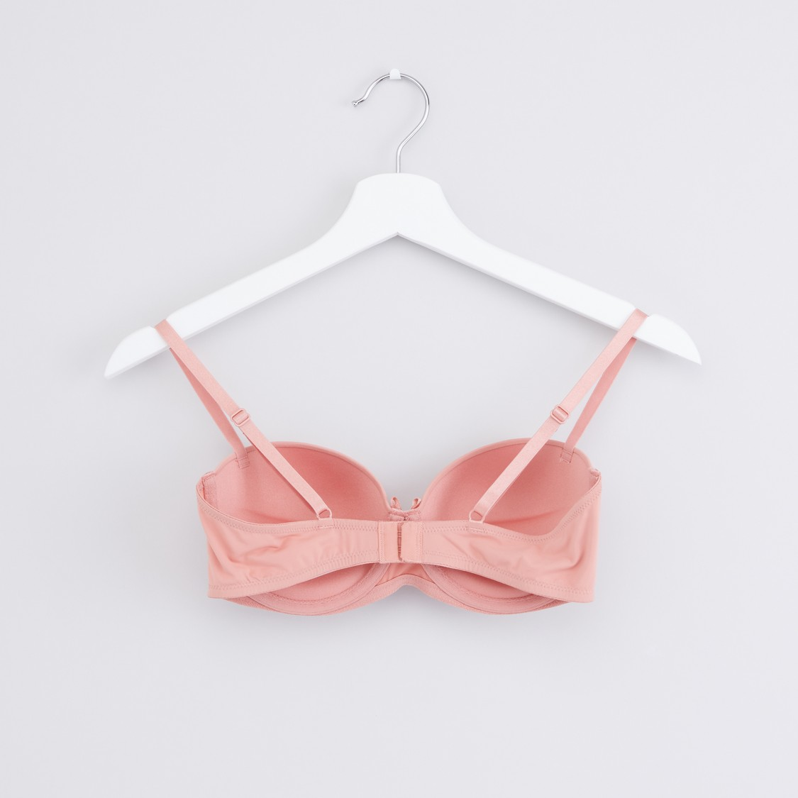 Padded Balconette Bra with Hook and Eye Closure - Set of 2