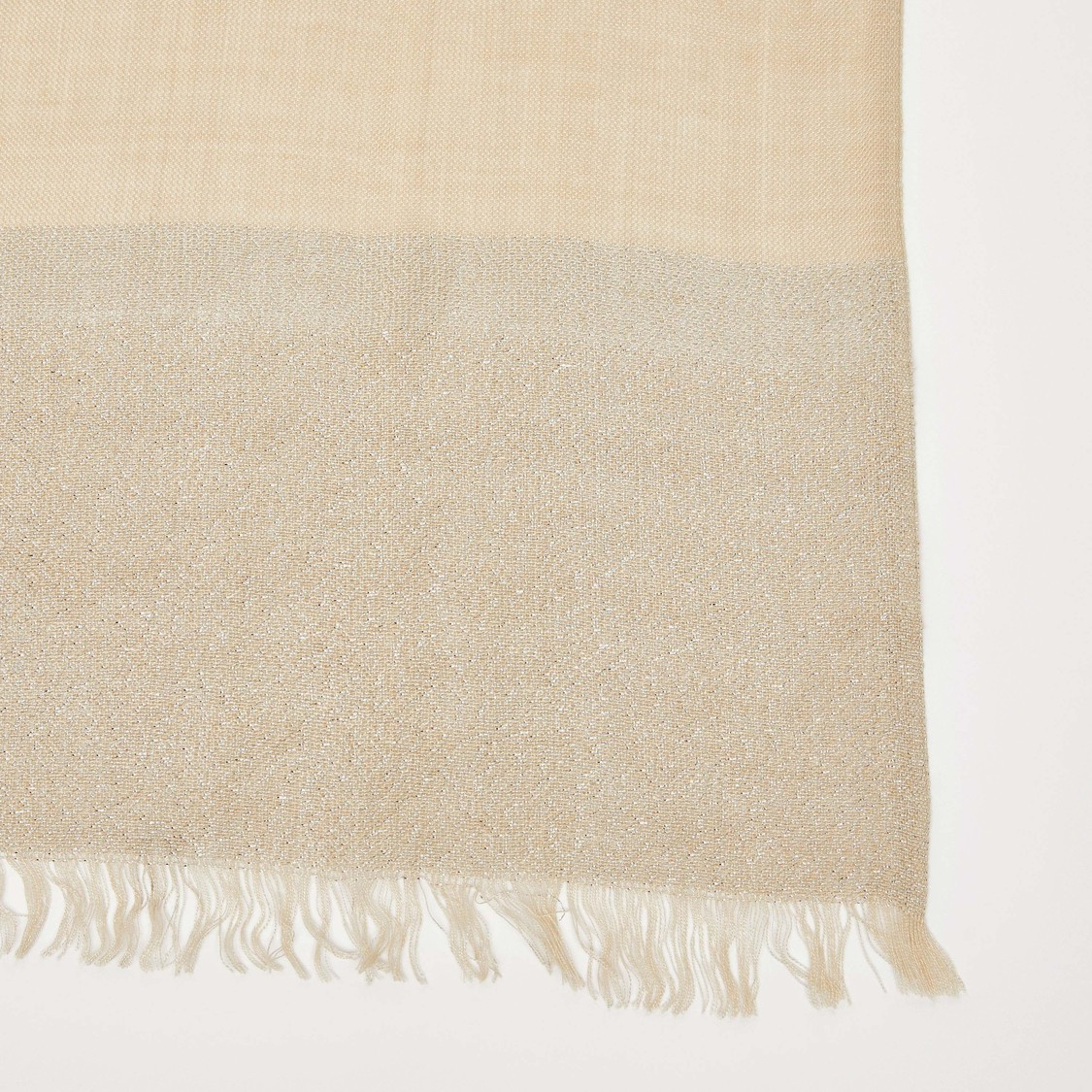 Textured Scarf with Fringe Detail