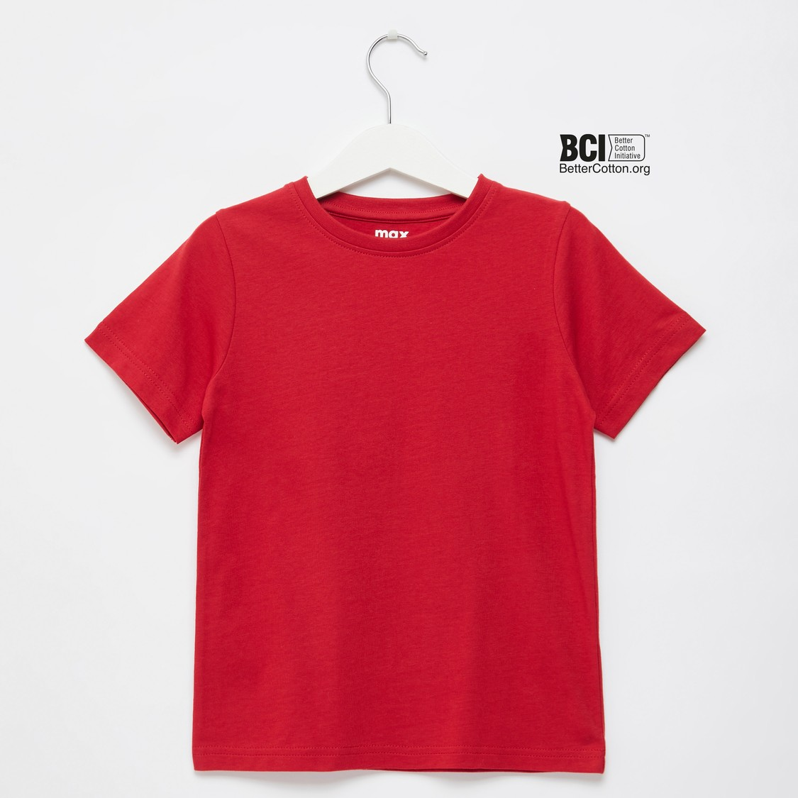 Solid Crew Neck T-shirt with Short Sleeves