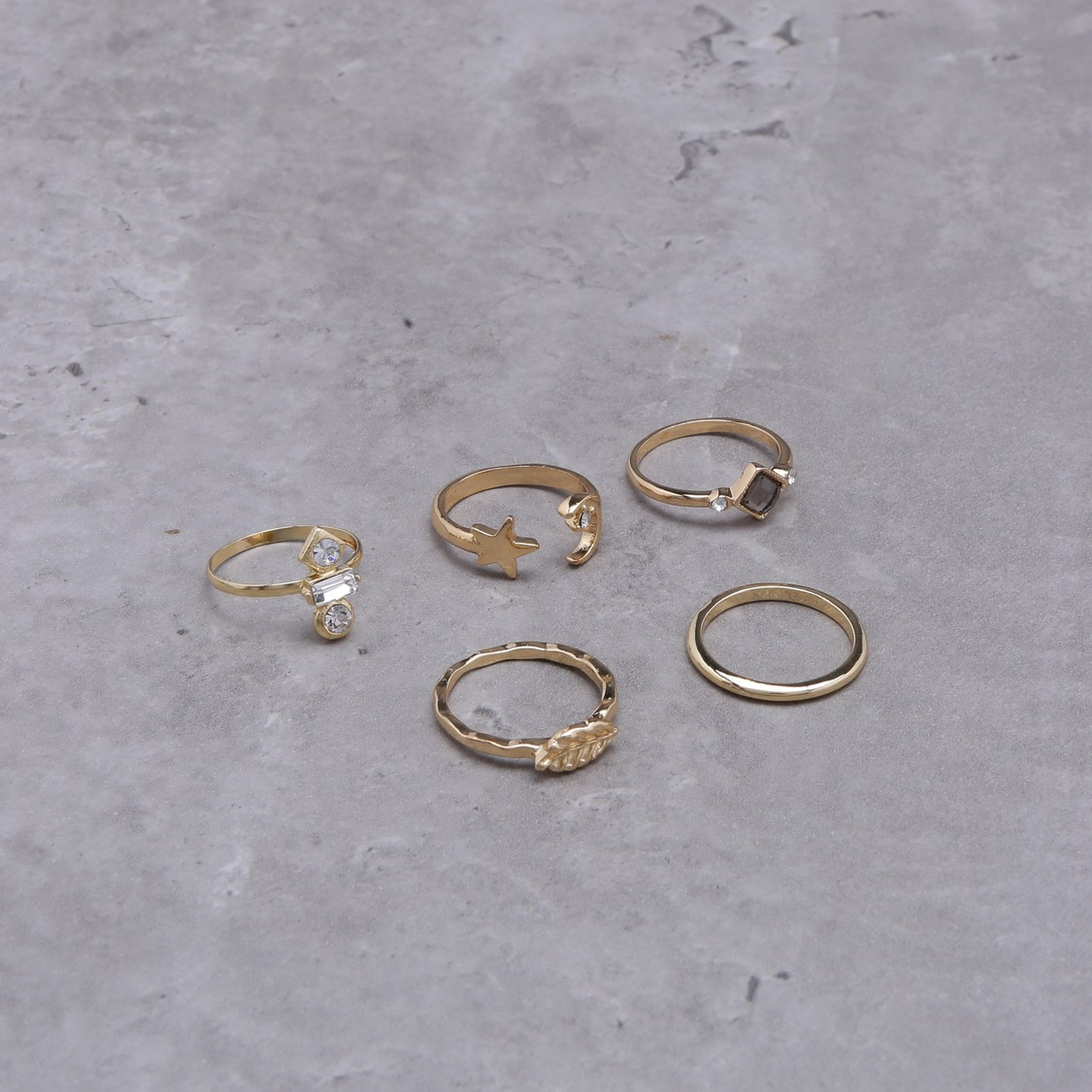 Metallic Rings Set