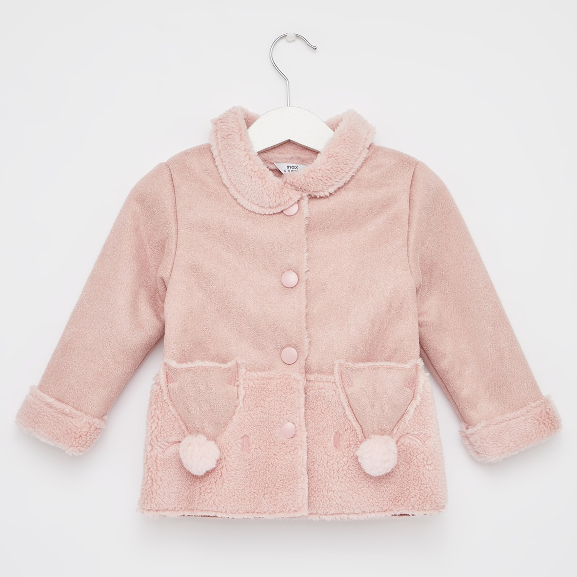 Adventure Animal Fur Lined Jacket with Pockets and Long Sleeves