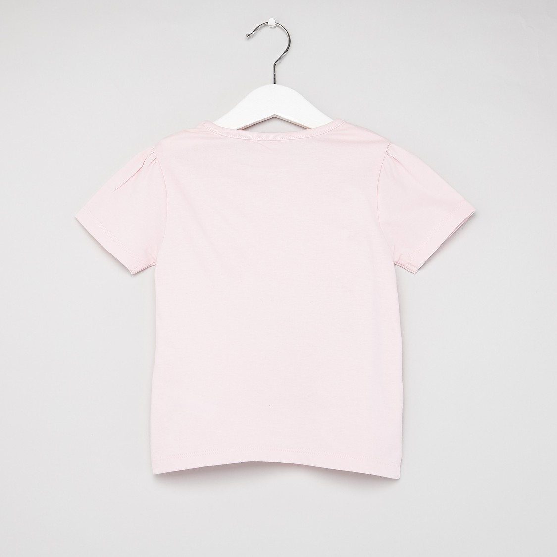 Barbie Print T-shirt with Round Neck and Short Sleeves