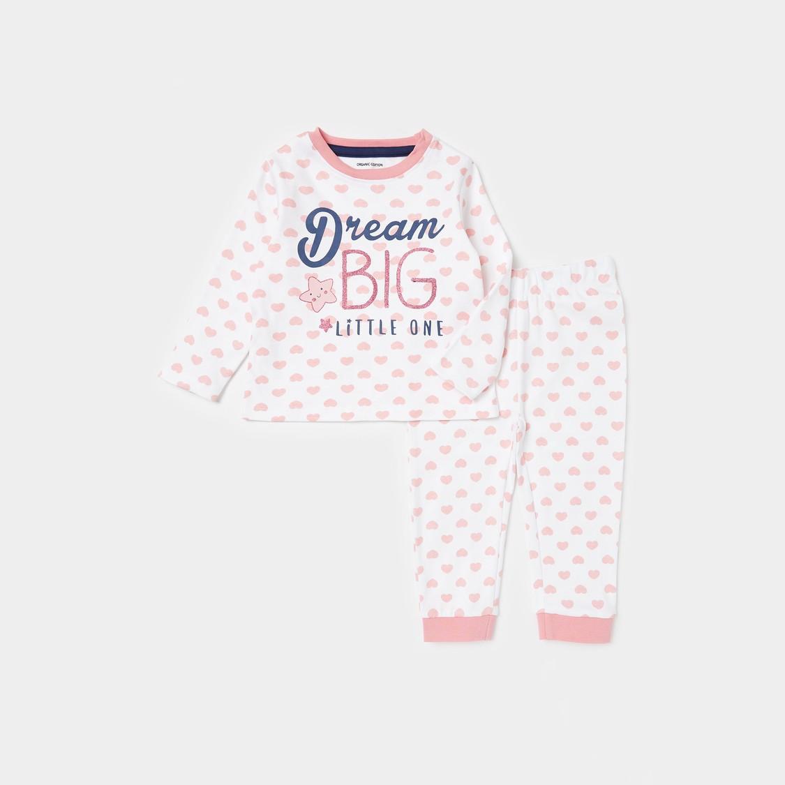 All-Over Print Long Sleeves T-shirt and Full Length Pyjama Set