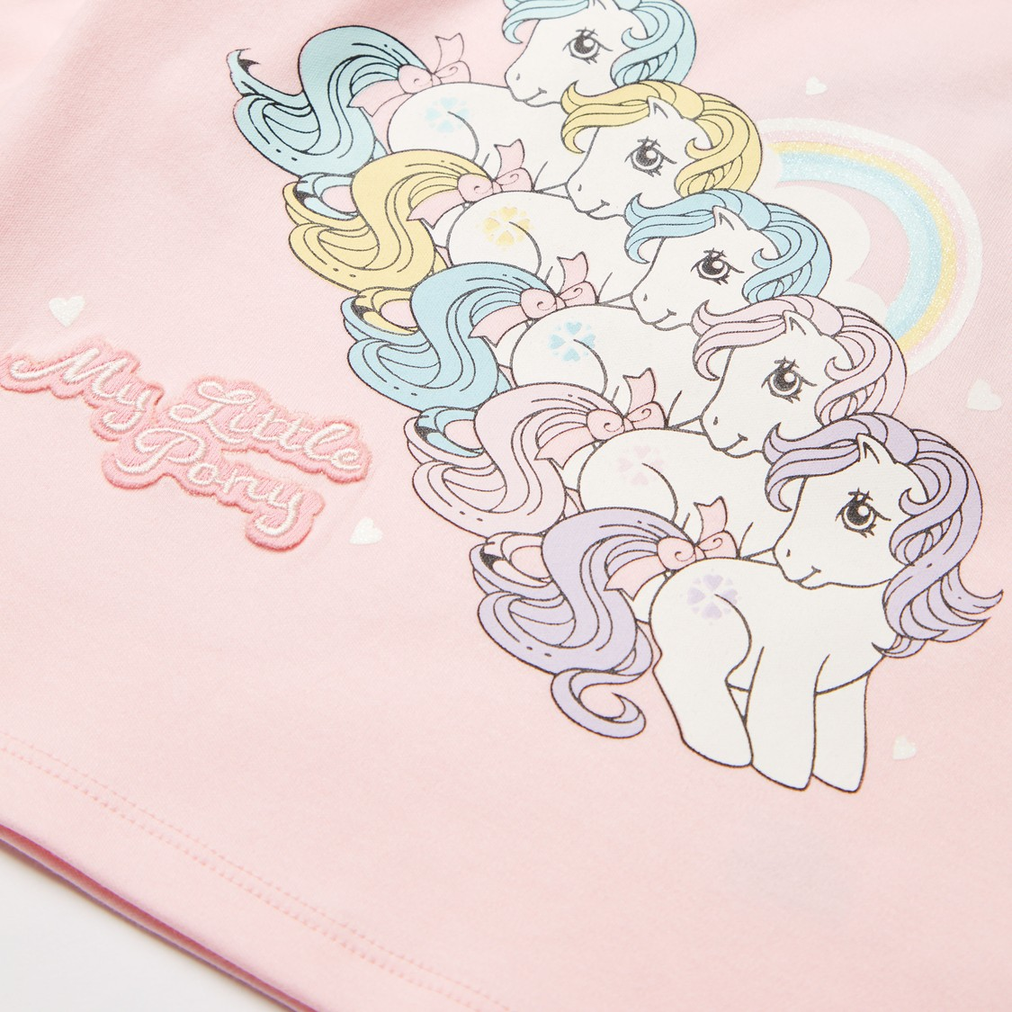 My Little Pony Graphic Print T-shirt and All-Over Print Pyjama Set