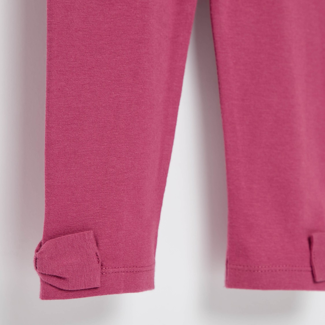 Full Length Solid Leggings with Bow Accent