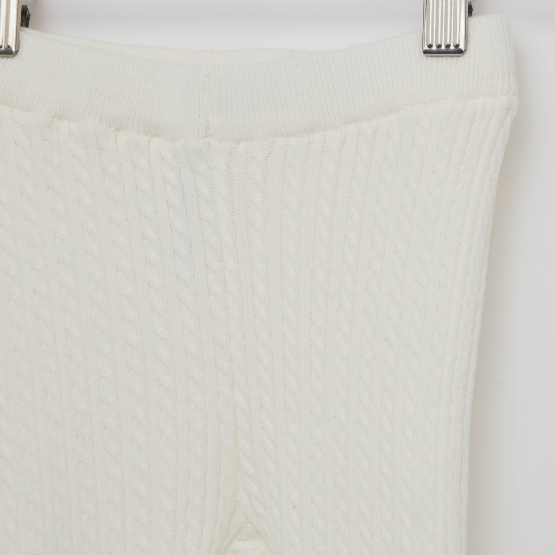 Cable Knit Sweater Leggings with Elasticated Waistband