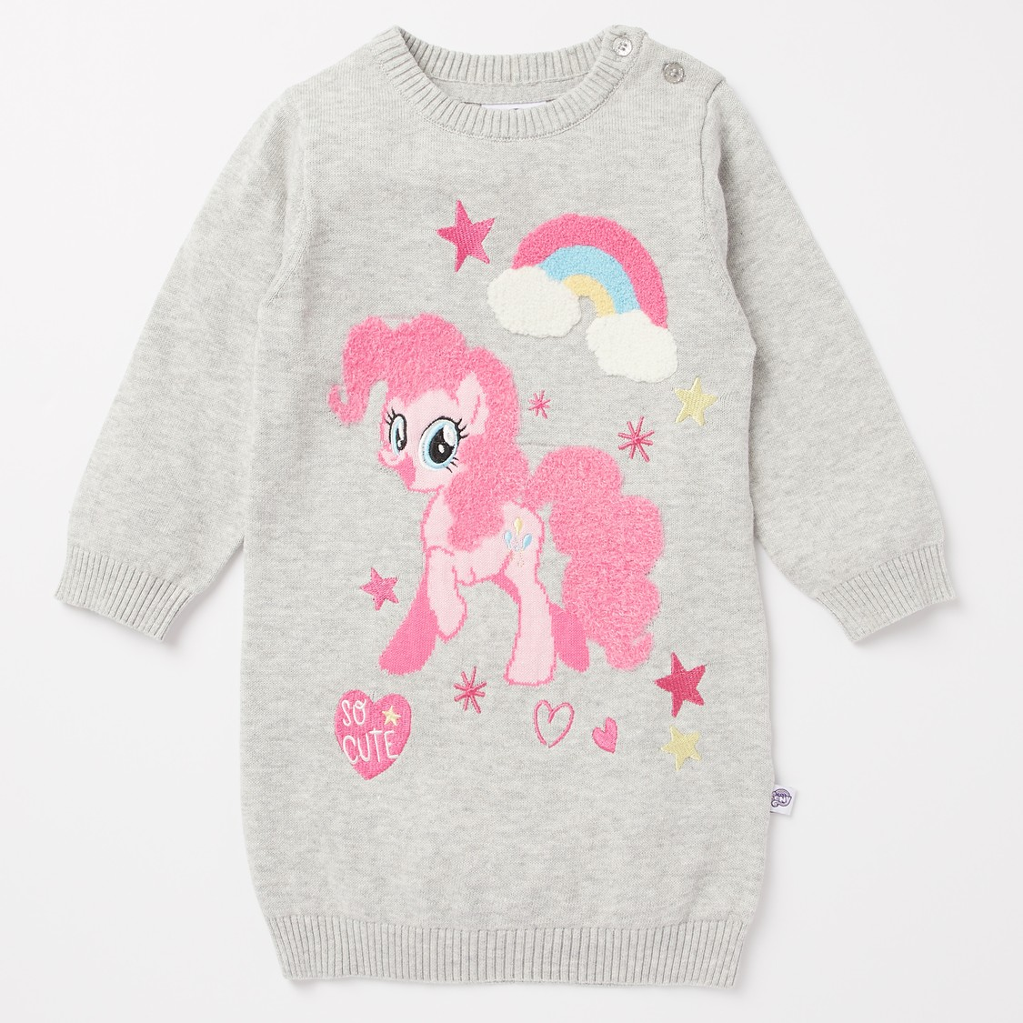 My Little Pony Textured Sweater Dress with Stockings Set