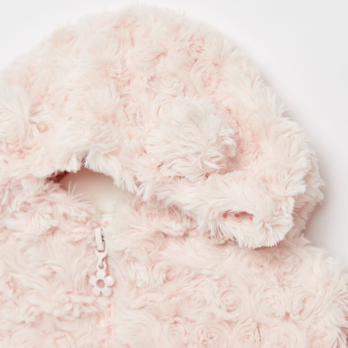 Fur Jacket with Long Sleeves and Pocket Detail
