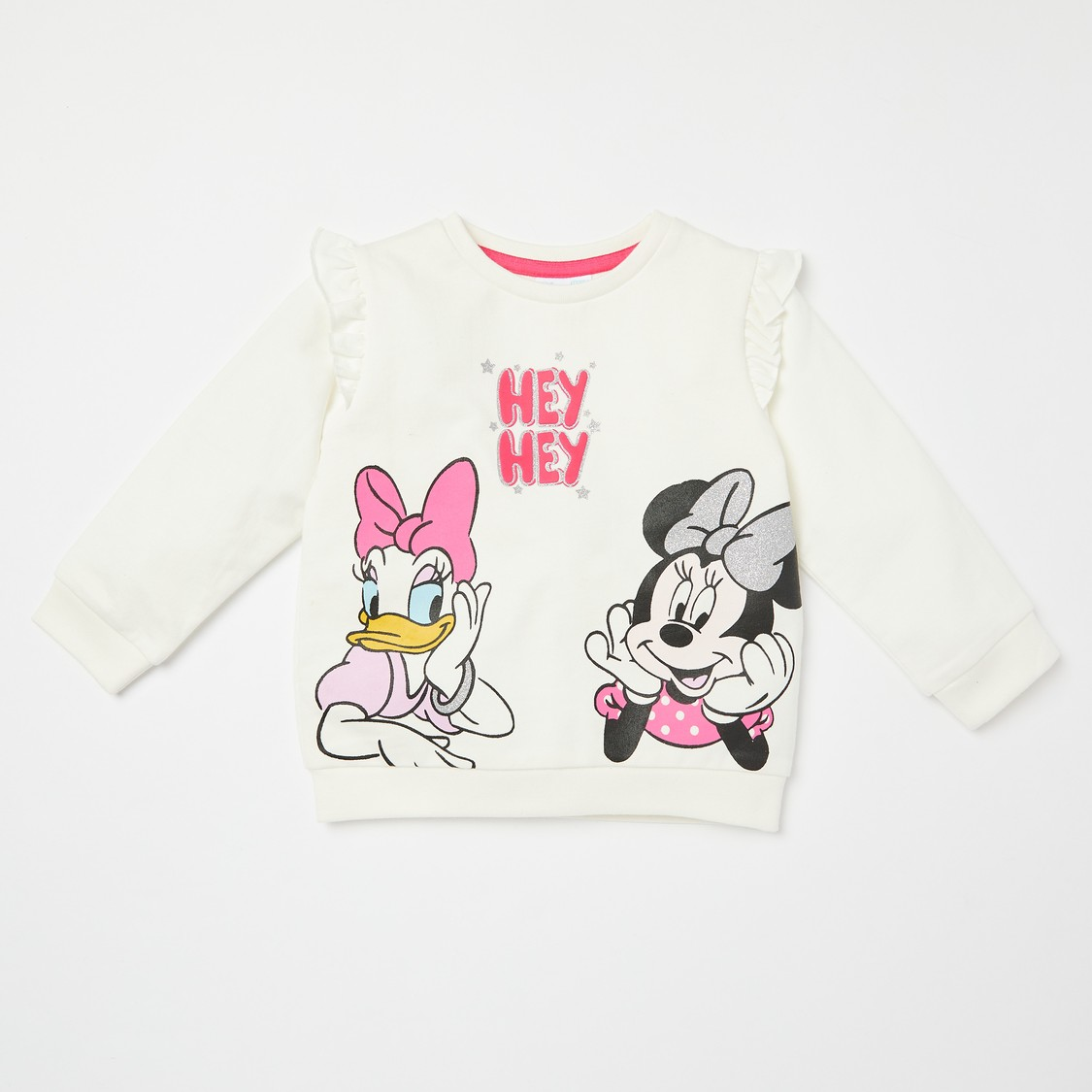 Daisy Duck & Minnie Mouse Print T-shirt and Full Length Jog Pants Set