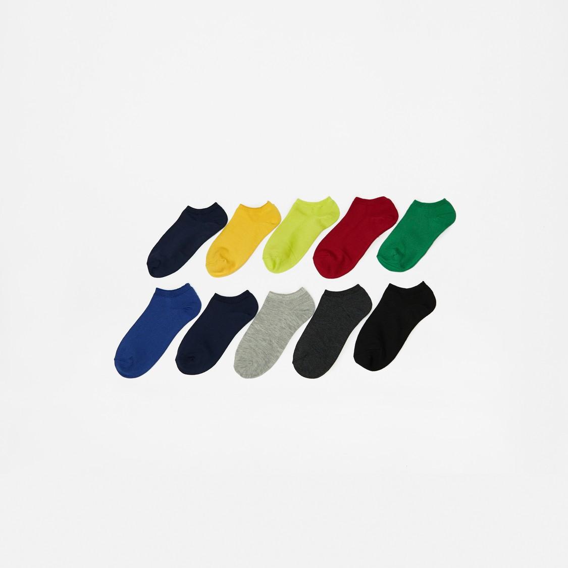 Ribbed Ankle Length Socks - Set of 10