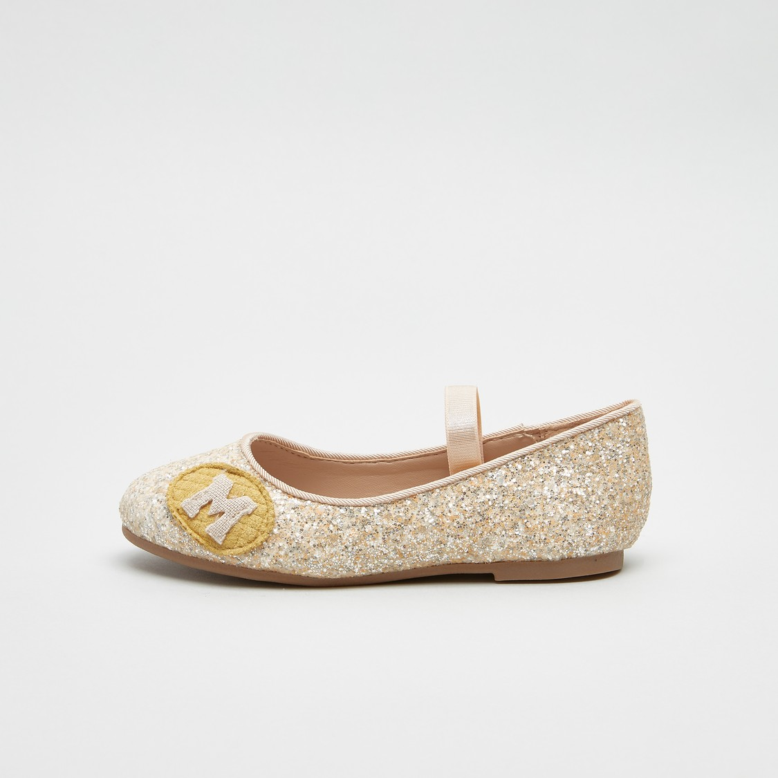 Glitter Detail Mary Jane Shoes with Elasticised Bands