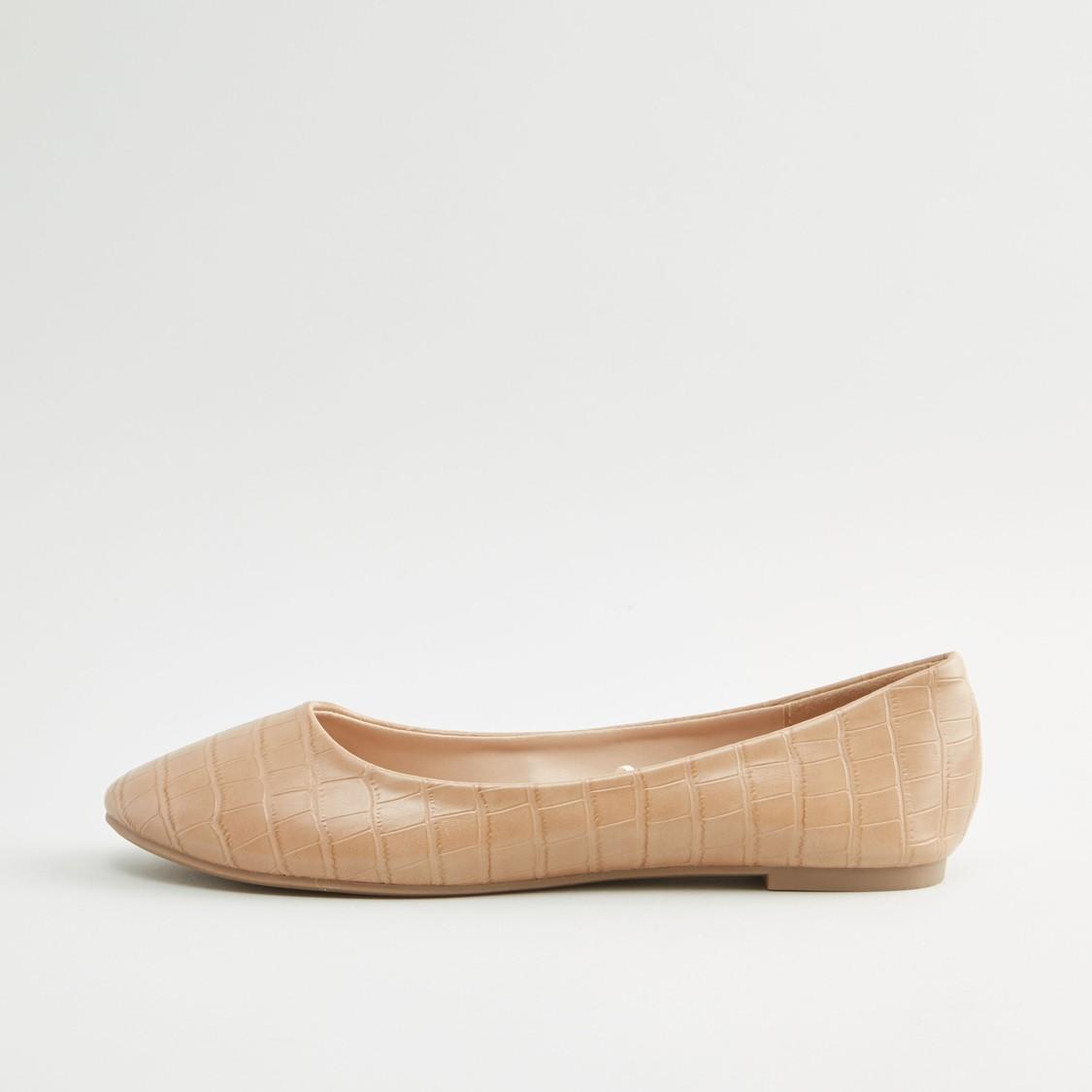حذاء باليرينا بكعب مكدّس