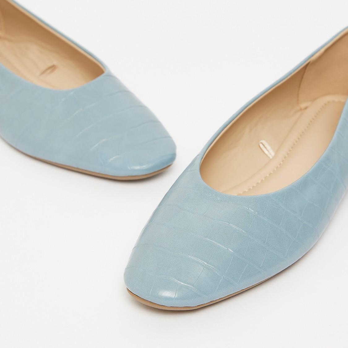 Textured Slip-On Ballerinas