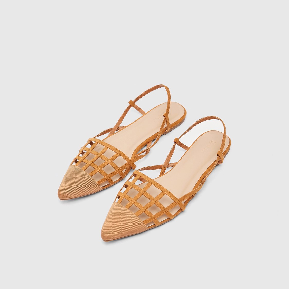 Solid Flat Sandals with Elasticated Ankle Strap