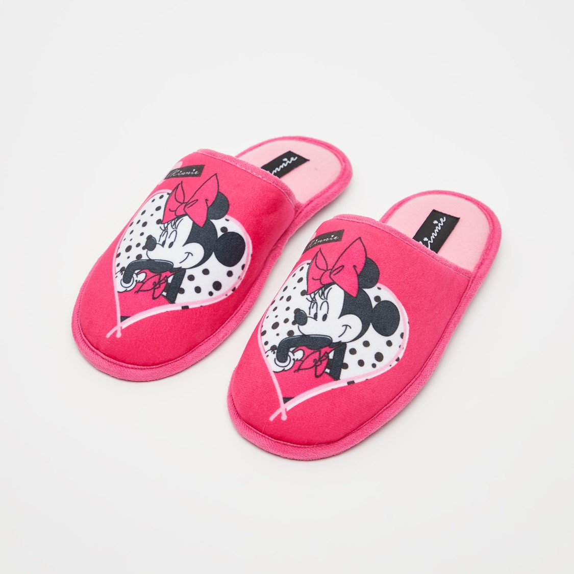Minnie Mouse Print Bedroom Slides