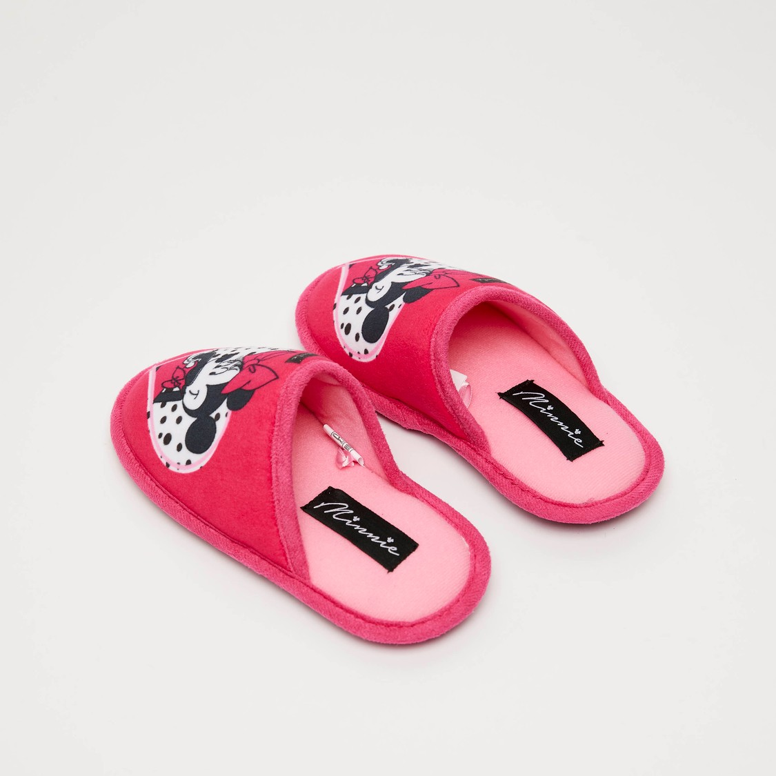 Minnie Mouse Print Bedroom Slippers
