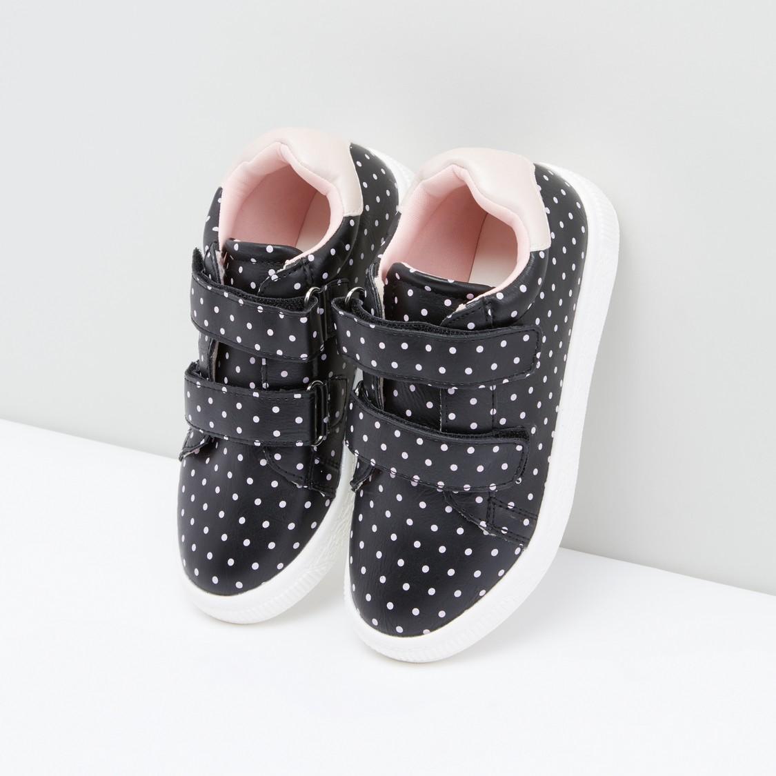 Printed Shoes with Hook and Loop Closure