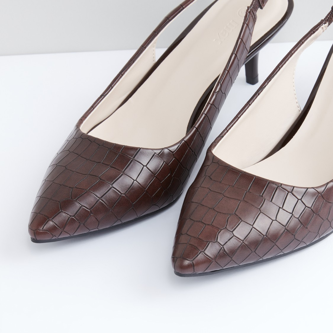 Textured Slip-On Shoes with Elasticised Backstrap