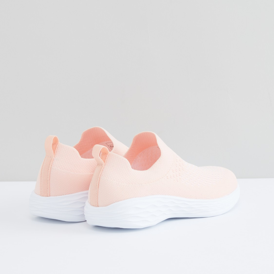 Solid Slip-On Sports Shoes