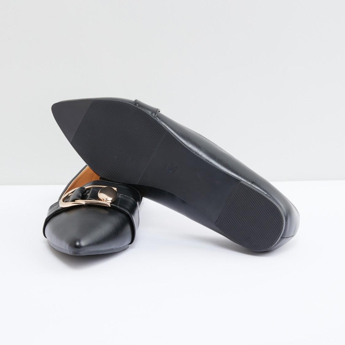 Metallic Detail Slip-On Shoes