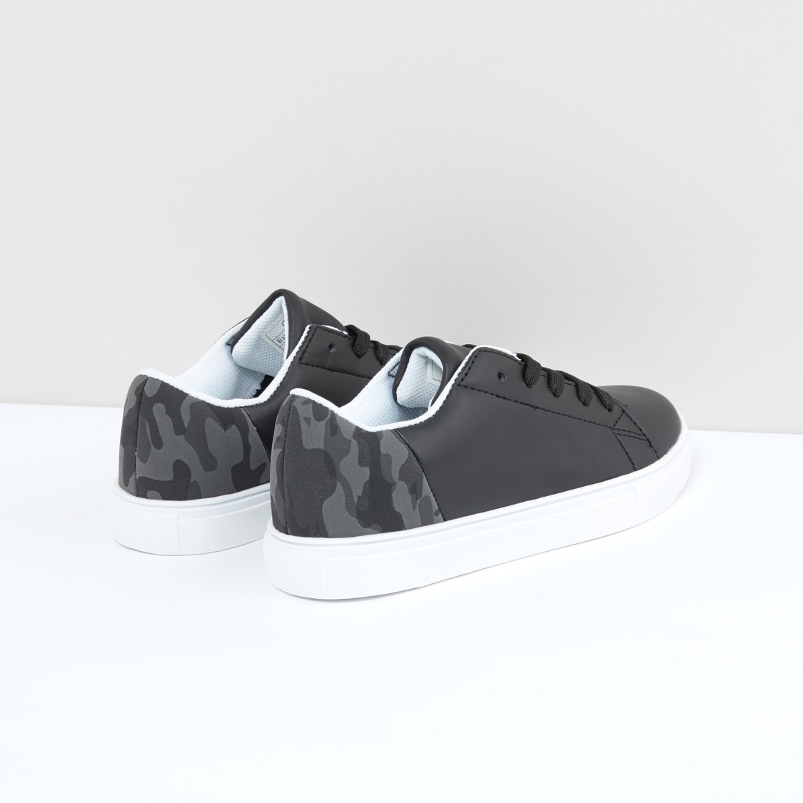 Printed Lace-Up Sports Shoes