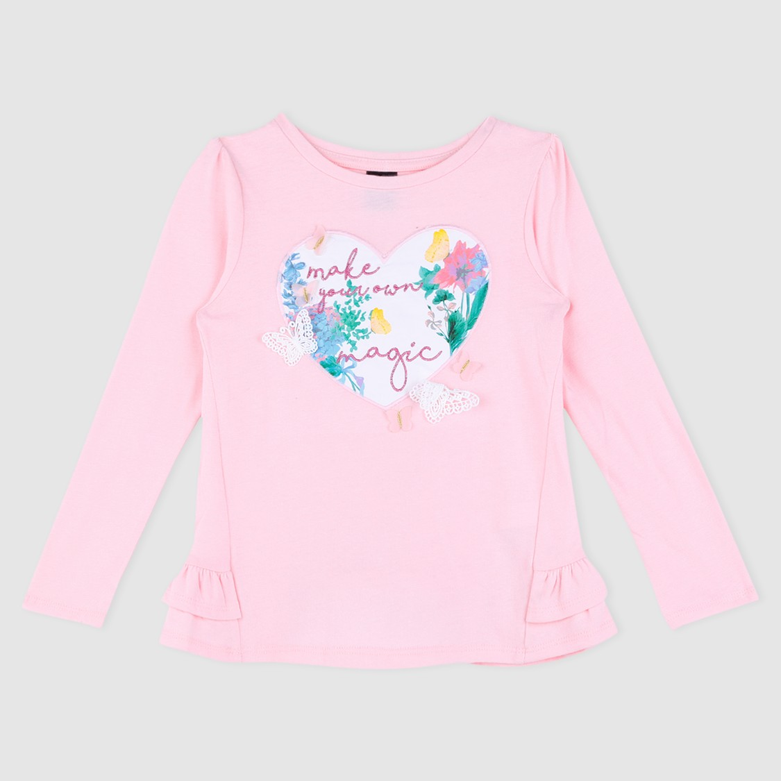 Embroidered Long Sleeves T-Shirt