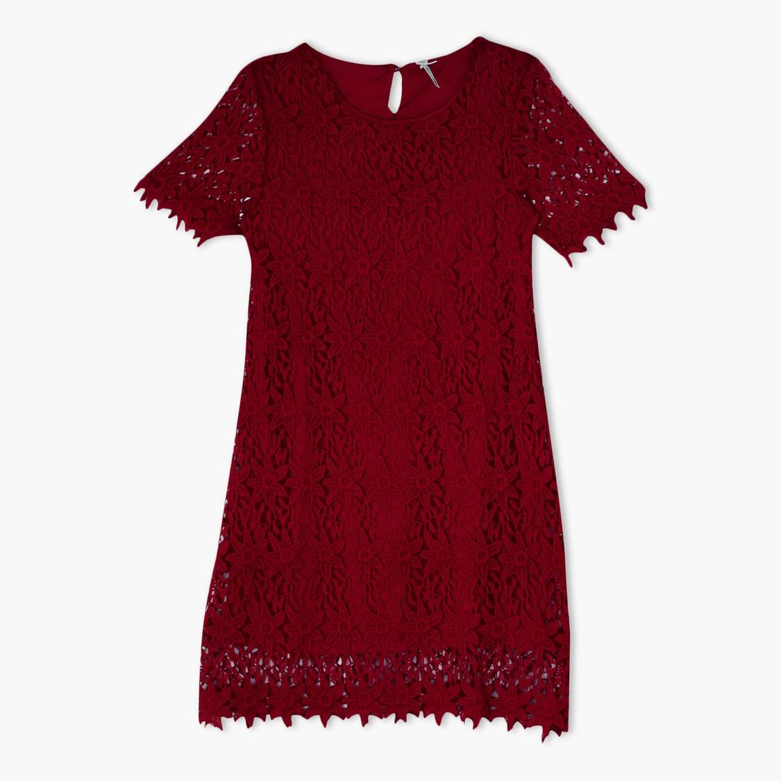 Round Neck Lace Dress