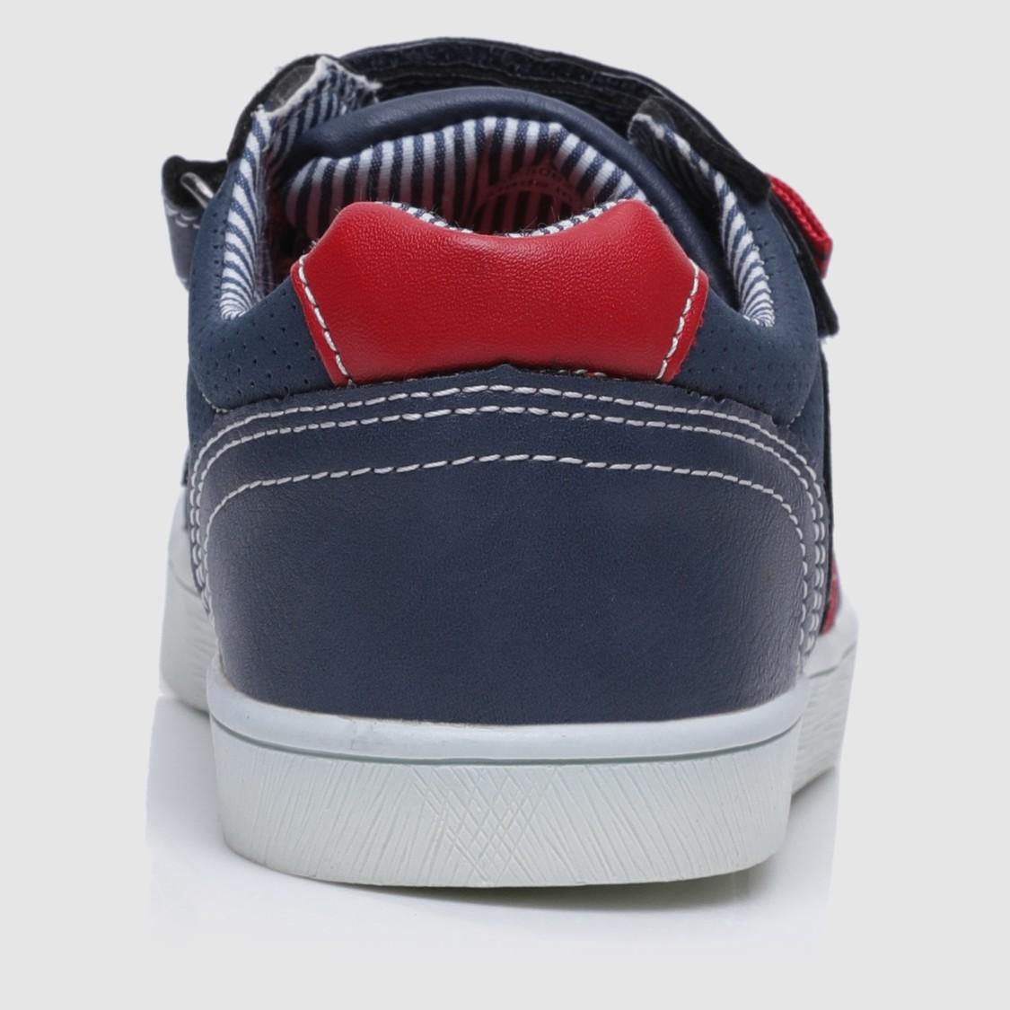 Textured Hook and Loop Sneakers