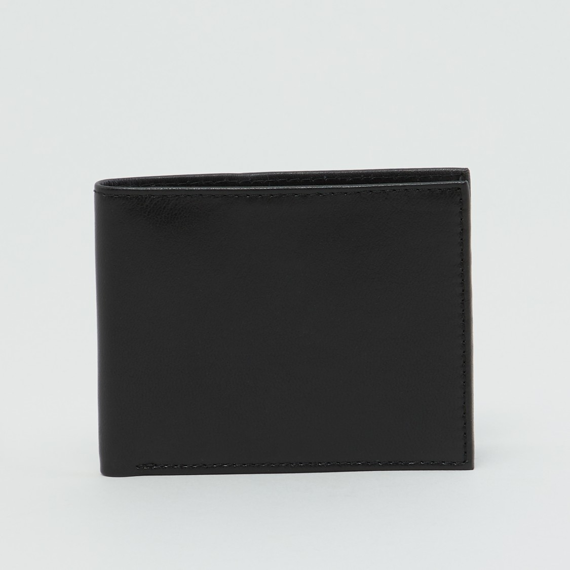 Plain Bi-Fold Wallet with Multiple Cardholders
