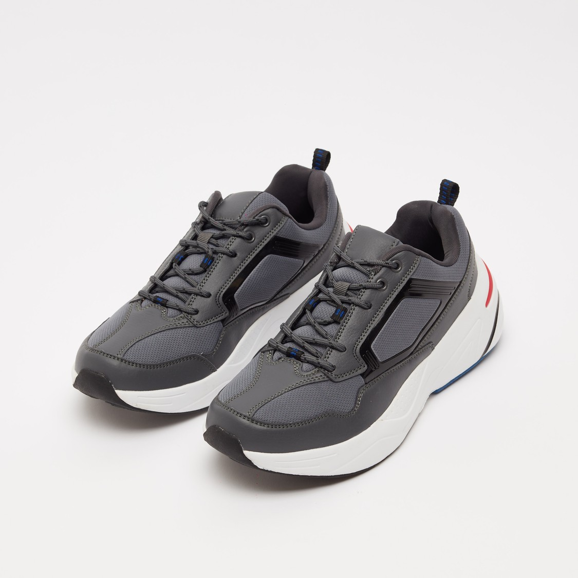 Textured Men's Lace-Up Running Shoes