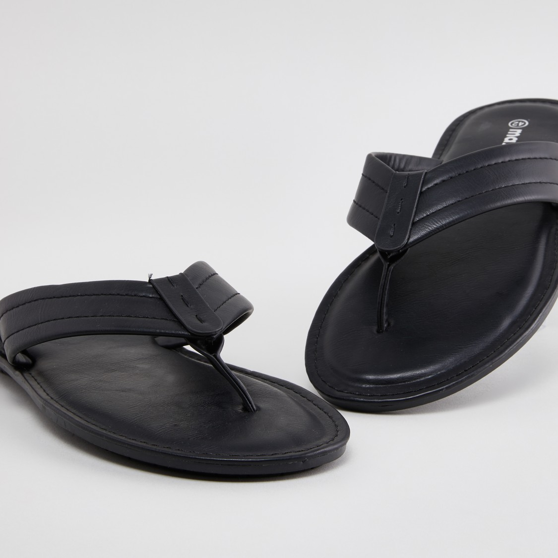 Textured Sandals with Slip-On Closure