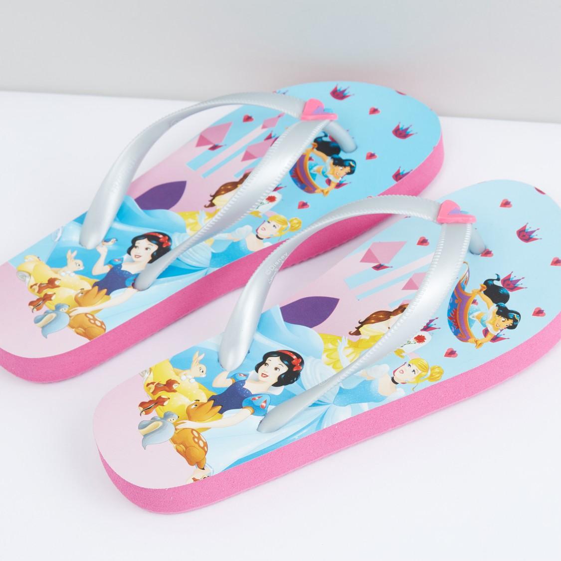 Princess Printed Flip Flops
