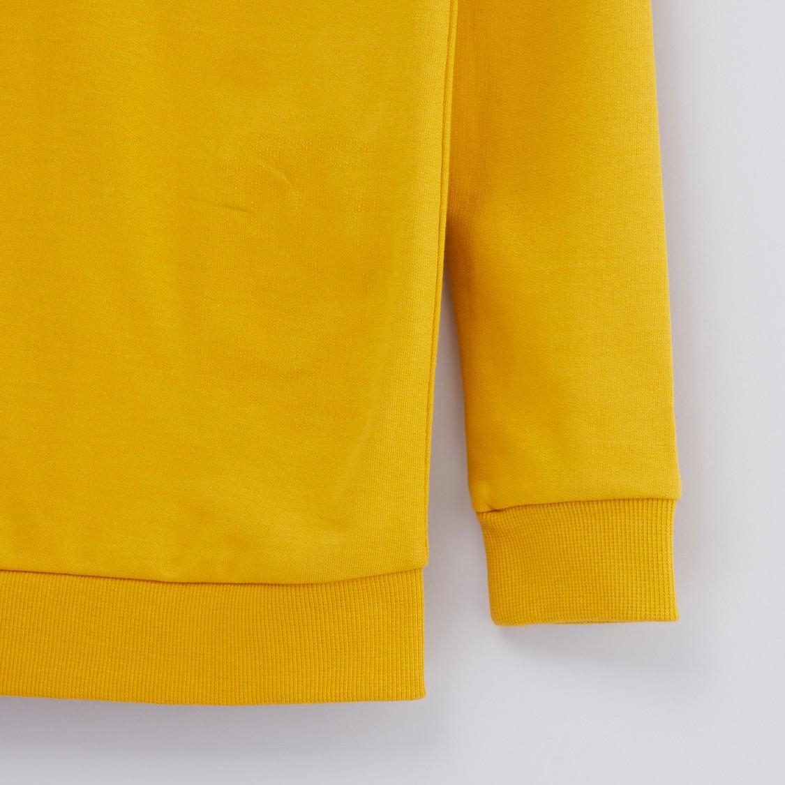 Printed Sweatshirt with Long Sleeves
